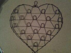 Heart wire notice board