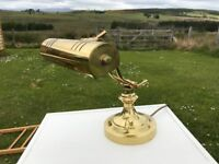 Brass traditional style desk lamp