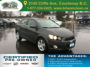 2016 Chevrolet Sonic LT Sunroof Heated Seats Backup Camera