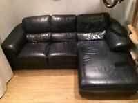 Leather sofa 2/3 seater corner