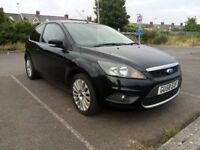 58 Plate Ford Focus 2.0 litre Titanium 3 dr Sport. Panther Black, Alloys. Long MOT, Just £995 ono.