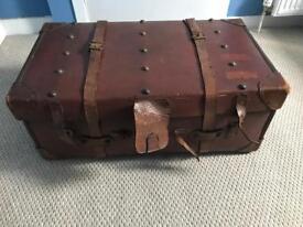 Vintage leather trunk