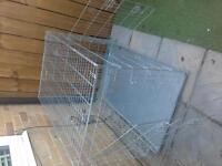 Large Silver dog cage.