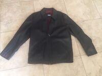 Austin Reed black leather jacket