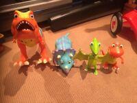 Set of 4 dinosaur train interactive toys