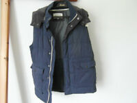 Mens Gilet with hood by Riverisland Size M