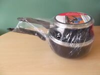Kitchen Collection Black Aluminium Saucepan with Glass Lid 2-Piece Set NEW aldi, cookware, cooking