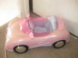 GENUINE PINK BABY BORN CAR - fully working + key - IMMACULATE - REDUCED TODAY - BARGAIN PRICE