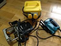 Trend Router, Makita jigsaw and transformer