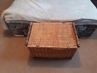 Wicker hamper basket storage box large cheap