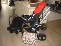 Pram/carry cot/ car seat/pushchair all-in-one