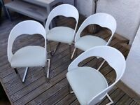 Dwell White Faux Leather Dining Chairs