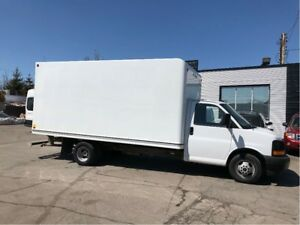2017 GMC Savana 3500 16ft cube with ramp.