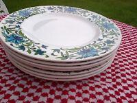 Midwinter Retro SPANISH GARDEN, JESSIE TAIT, Dinner Plates (7)