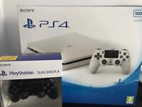 Playstatiom Slim 4 New White Edition bundled + Extra controller Boxed