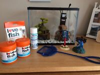 12 litre fish tank and accessories