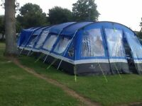 Hi gear oasis 8 tent,frontier 8 porch, footprint and carpet £500 Ono