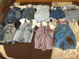 Mixed size baby boys clothes