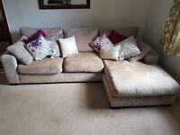 NEXT Grey corner sofa and snug chair