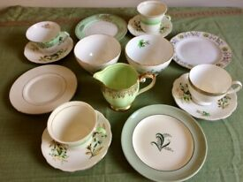Lovely Vintage Mix & Match China cups, saucers & plates, sugar bowls, creamer jug