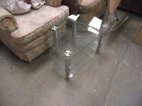 Glass tv stand (small)