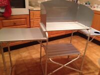 Royal Aluminium folding kitchen stand with detachable wind shield and carry case