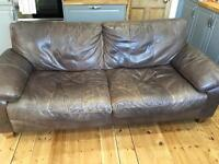 FREE! DFS Leather 3 Seater Sofa