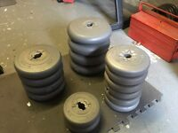 Weights various sizes. 59Kg total.