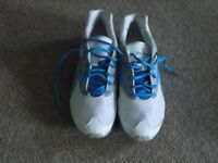 ladies reebok slimtone trainers white and light blue, size uk 5 only worn a couple of times