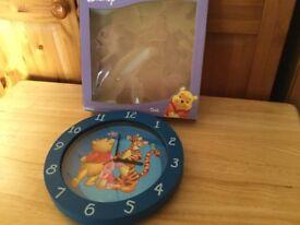 Winnie the Pooh wall clock.