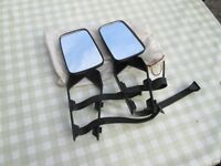 Pair of strap-on towing mirrors. New and unused.