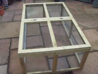 Large Rabbit, Guinea Pig Run 1.2 metre X 1.4 metre. (4 Foot X 3 Foot 5 in) galvanised wire BRAND NEW