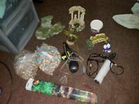 Stuff for fish tank