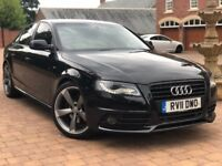2011 11 Plate Audi A4 2.0 TDI Black Edition Automatic Sat Nav Bang & Olufsen Rotor Alloys