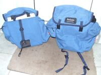 Panniers, fit onto a cycle rack
