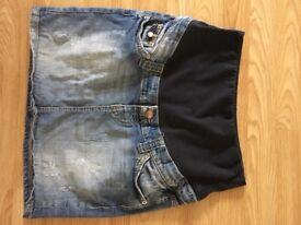 H&M Mama Maternity Denim Skirt