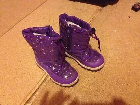 Purple snow boots size 11