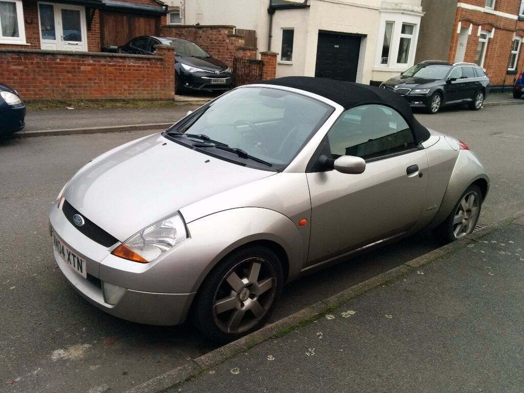 ford streetka 1 6 luxury silver convertible low mileage 2004 04 in rushden. Black Bedroom Furniture Sets. Home Design Ideas