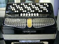 EXCELSIOR CHROMATIC BUTTON KEY ACCORDION 120 BASS C SYSTEM