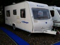 SUPERB 2007 Bailey Ranger 460 4 Berth Fixed Bed Lightweight Caravan MAX Laden Just 1184Kgs