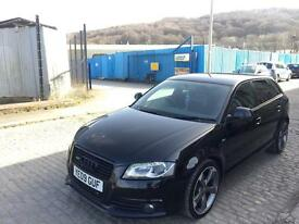 Audi A3 2.0 tdi Quattro 170bhp, black edition. Full S/H. (not S3 Rs3 r32 gti gtd msport tdi sline)