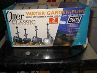 pond filter box and a pump