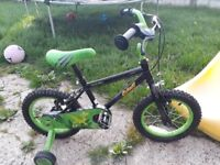 Boys apollo halfords bike used once excellent condition. 14 inch wheels not a mark on it
