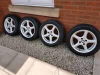 15 inch vauxhall alloy wheels 4 stud 4x100 fit corsa/astra/nova/