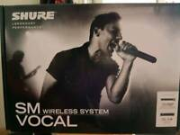 SHURE SM58 WIRELESS MIC WITH BLX4 RECIEVER