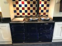 Blue oil fired four door Aga.