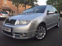 2004 Skoda Fabia 1.9 (130 BHP) TDI vRS 5dr FSH , Low Insurance & Road tax , HPI Clear
