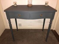 Charcoal Grey French Console Table