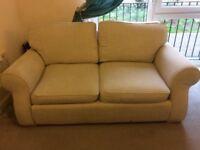 Cream fabric sofas