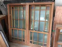 Solid mahogany double glazed sliding sash windows (various sizes)